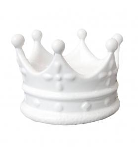 Corona Svuotatasche Porta gioie Re king Porcella Bianca