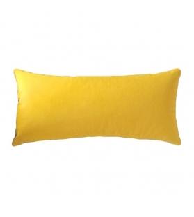 Cuscino Tessuto Pied De Poul Bianco nero piccolo 50x25 cm