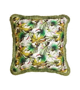 Cuscino Jungle Tropical con spazzolino 45x45 cm
