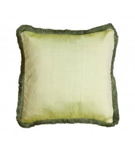Cuscino Taffetà Verde con spazzolino 50x50 cm