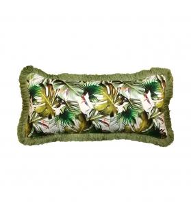 Cuscino Jungle Tropical Rettangolare con spazzolino 50x25 cm