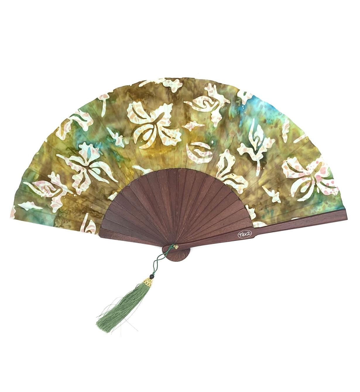 Ventagli Da Parete Decorativi ventaglio in tessuto e legno con nappina bekreative