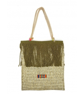 Shopper in tessuto Altamoda Green Flares