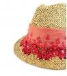 Cappello in paglia Red Pearl