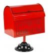 Porta posta lettere babbo con piedistalloCm. 30 x 21,5 h 40