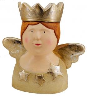 Testa regina crema-oroCm. 37 x 21 h 37
