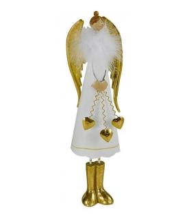 Angelo bianco oro medio con cuoriciniCm. 14 x 9 h 49