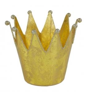 Porta grande lumino corona oro0 cm. 17 h 15
