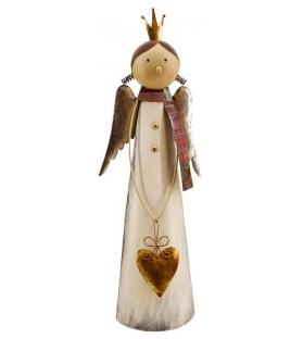 Angelo abito bianco cuore oroCm. 24 x 13 h 67