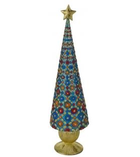 Albero conico blue collection con stellaAltezza cm. 43