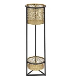 Porta vasi doppio in metallo cm ø 23x80