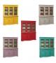 Mobile Credenza Cristalliera 3 porte 3 cassetti