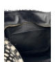 Borsa in pelle effetto cavallino maculato bianco nero