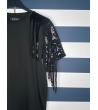 T-shirt Donna Nera Paillettes Spalle