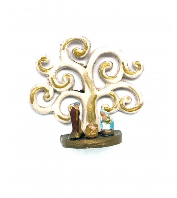 Presepe magnete Albero della Vita in terracotta h 6cm
