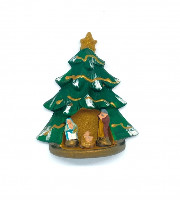 Presepe magnete Albero di Natale in terracotta h 6cm