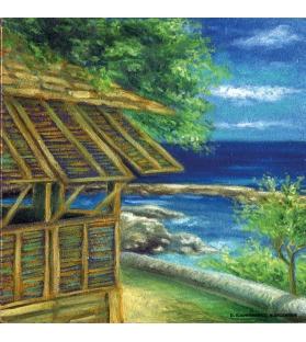 Quadro dipinto Salento 20x20 cm