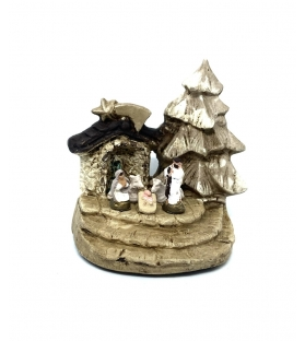 Presepe Natività in terracotta h 6,5cm
