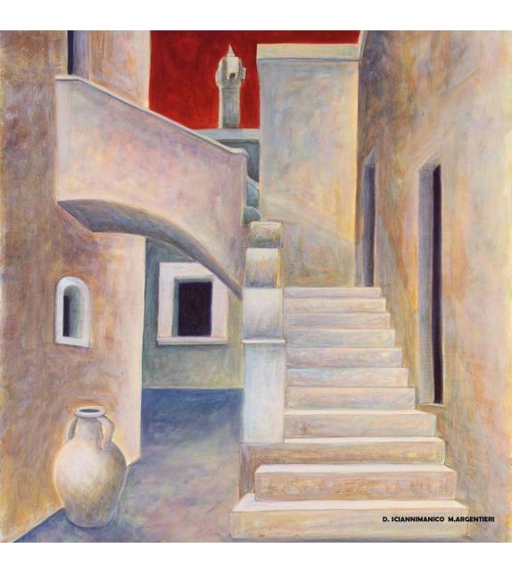Quadro dipinto Ruvo di Puglia 20x20 cm