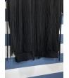 Abito maxipull frange lunghe nero