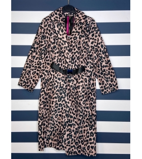 Trench 2.0 animalier rosa