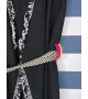 Cardigan smanicato con cinta