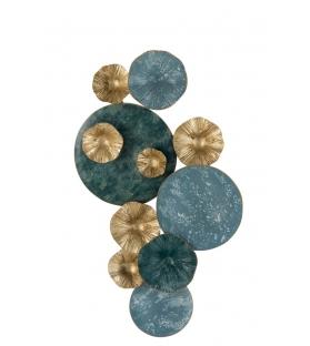 Decorazione Parete Circles Metallo Blu oro