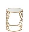 Tavolino Alveoli metallo oro diam.42 x h50 cm