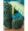 Vaso alto tropical leaf ceramica 18,5x18,5x38,5cm