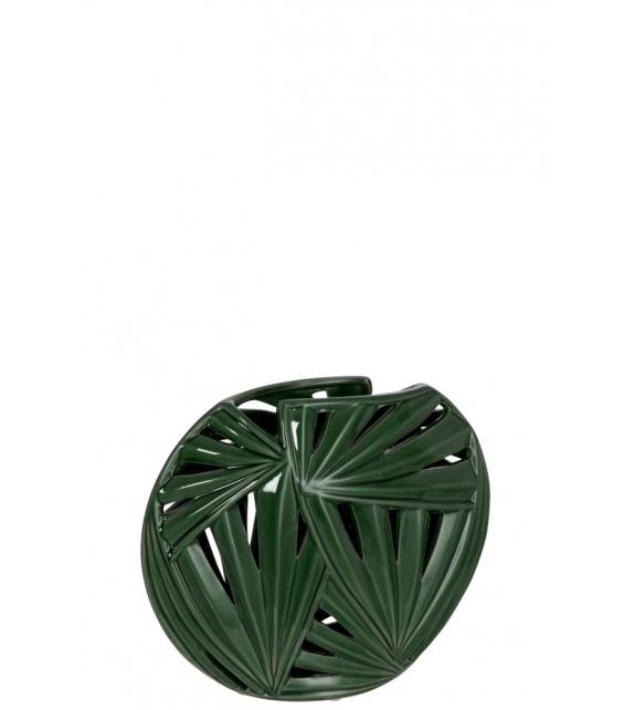 Vaso ovale tropical leaf ceramica 25x10x25cm