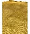 Vassoio pitonato resina dorato diametro 31cm
