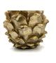 Pigna decorativa oro resina h18cm