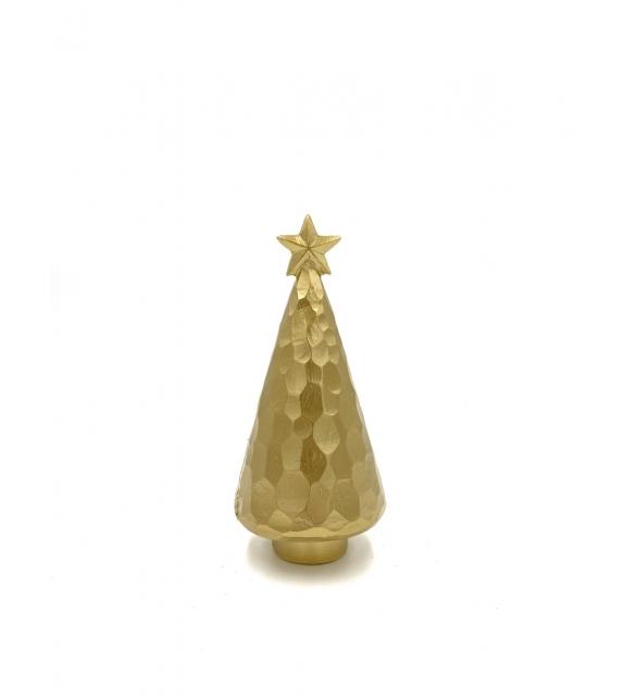 Albero Natale sfaccettato con stella oro