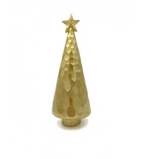 Albero Natale sfaccettato grande con stella oro