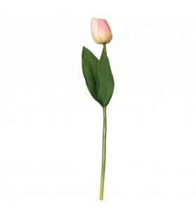 Tulipano fiore artificiale rosa H50 cm