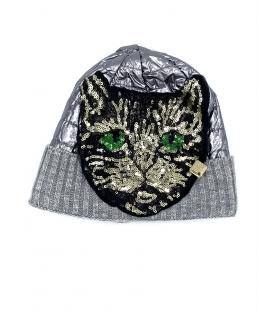 Cappello berretto donna Tiger Lady argento