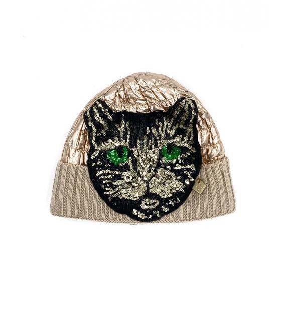 Cappello berretto donna Tiger Lady oro rosa