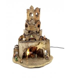 Presepe in terracotta Borgo Napoletano h35 cm