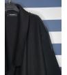 Cappotto nero con frange taglio vivo