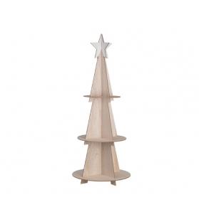 Albero di natale Stella con 3 ripiani in legno h120 cm