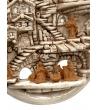 Presepe in terracotta smalto invecchiato da appendere H29xL15 cm