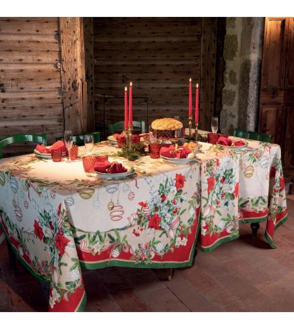 Tovaglia in Lino La table au Noel Natale