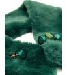 Collo ecopelliccia chiusura magnete verde