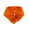 Collo ecopelliccia chiusura magnete arancione