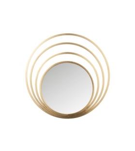 Specchio 4 cerchi rotondo metallo oro vetro 91x91 cm