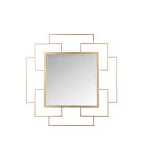 Specchio Quadrato metallo oro specchio 91x91 cm
