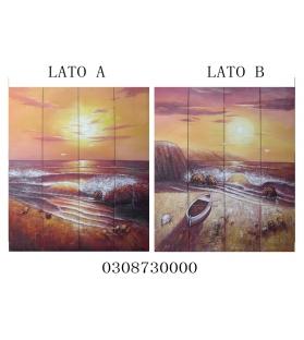 Separe' dipinto su tela dawn 4 ante (2 lati dipinti) cm 150x180****