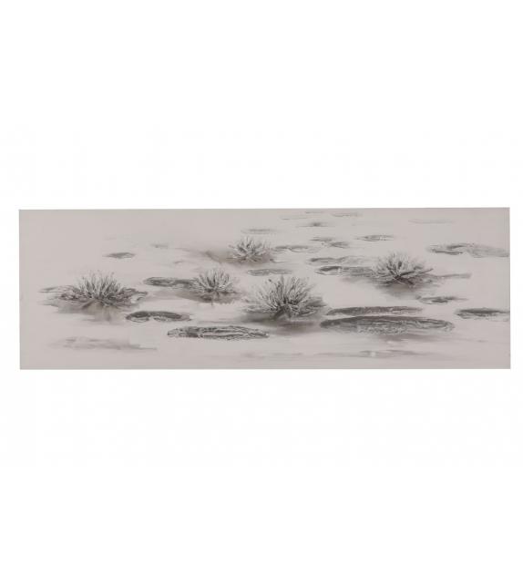 Dipinto su tela lotus lake cm 150x3x50