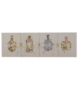Dipinto su tela parfumes two cm 150x3x50