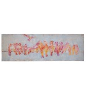 Dipinto su tela canary cm 150x3x50